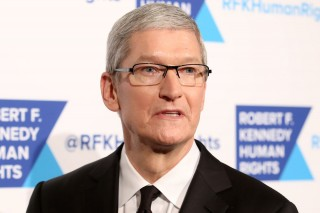 apple ceo tim cook, via shutterstock