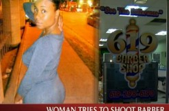 woman who tried to shoot barber, via NBC screengrab