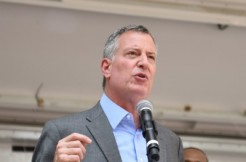 bill de blasio, shutterstock and a katz