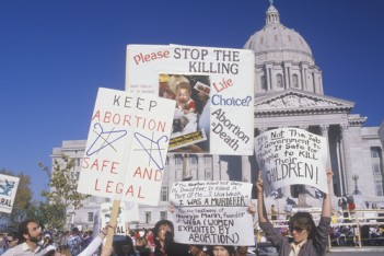 abortion protest via shutterstock