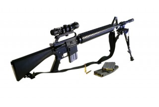 Image of AR-15 rifle via Shutterstock