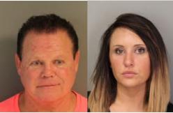 Jerry Lawler and Lauryn McBridge Mugshots via Shelby County Sheriffs Office.jpg