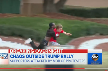 San Jose Trump Agitators Screengrab via ABC News
