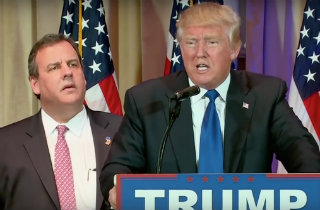 Donald Trump and Chris Christie (CNN YouTube)