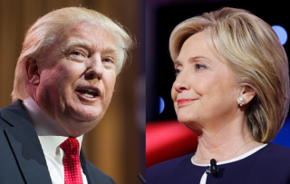Images of Donald Trump and Hillary Clinton via Shutterstock
