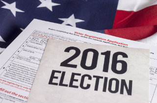 2016 election voter registration (Shutterstock)