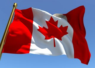 canadian-flag via Shutterstock