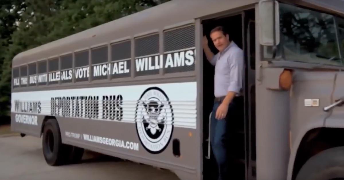 Michael Williams Deportation Bus sanctuary city tour