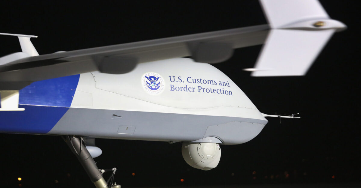 SIERRA VISTA, AZ - MARCH 07: A Predator drone operated by U.S. Office of Air and Marine (OAM), taxis towards the tarmac for a surveillance flight near the Mexican border on March 7, 2013 from Fort Huachuca in Sierra Vista, Arizona. The OAM, which is part of U.S. Customs and Border Protection, flies the unmanned - and unarmed - MQ-9 Predator B aircraft an average of 12 hours per day at around 19,000 feet. The drones, piloted from the ground, search for drug smugglers and immigrants crossing illegally from Mexico into the United States.