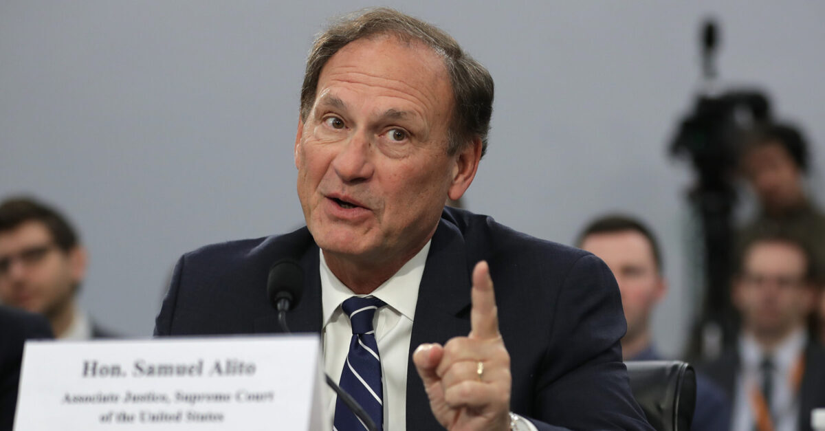 WASHINGTON, DC - MARCH 07: U.S. Supreme Court Associate Justice Samuel Alito testifies about the court's budget during a hearing of the House Appropriations Committee's Financial Services and General Government Subcommittee March 07, 2019 in Washington, DC. Members of the subcommittee asked the justices about court security, televising oral arguments and codes of ethics for the court.