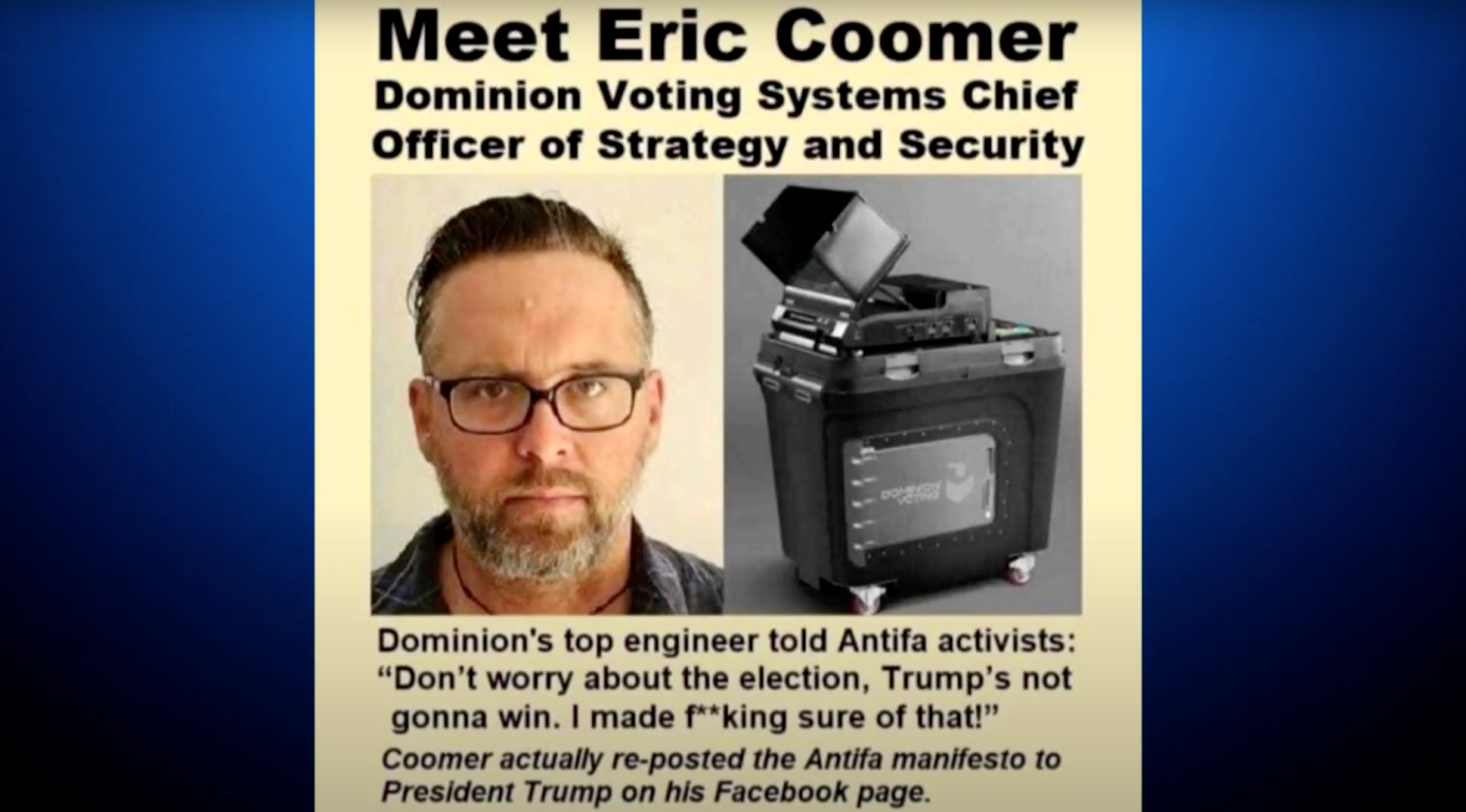 Dominion's Eric Coomer Sues Trump Campaign and Its Allies   Law & Crime