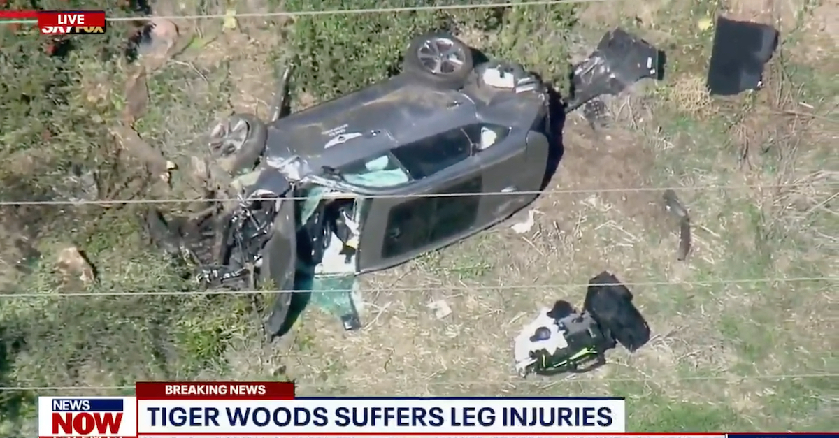 Tiger Woods hospitalized after single-vehicle accident near Los Angeles