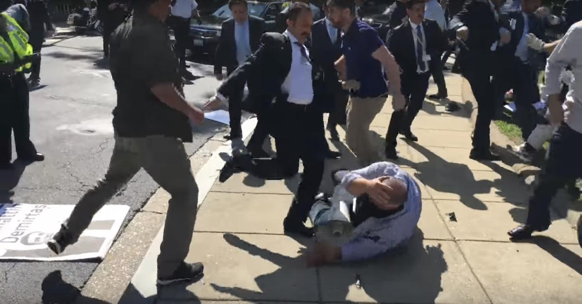 Erdogan protest