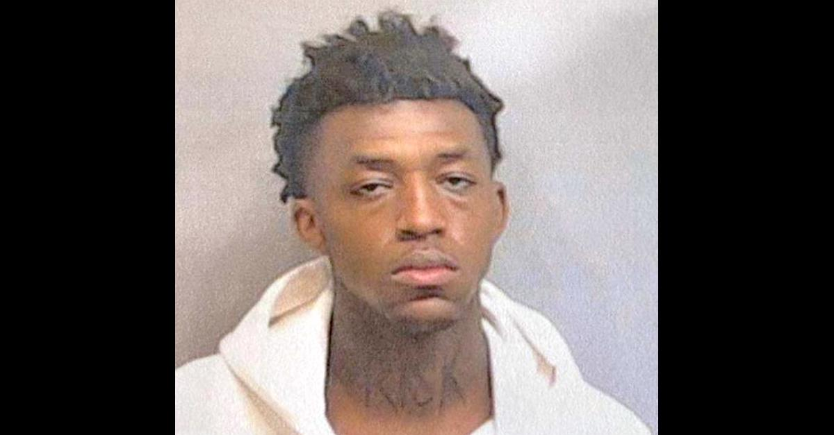 Image: J'ssan Carlos Strover is seen in an Atlanta Police Department mugshot.