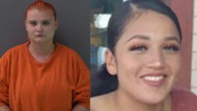 Mugshot of Cecily Aguilar (left); picture of Vanessa Guillen