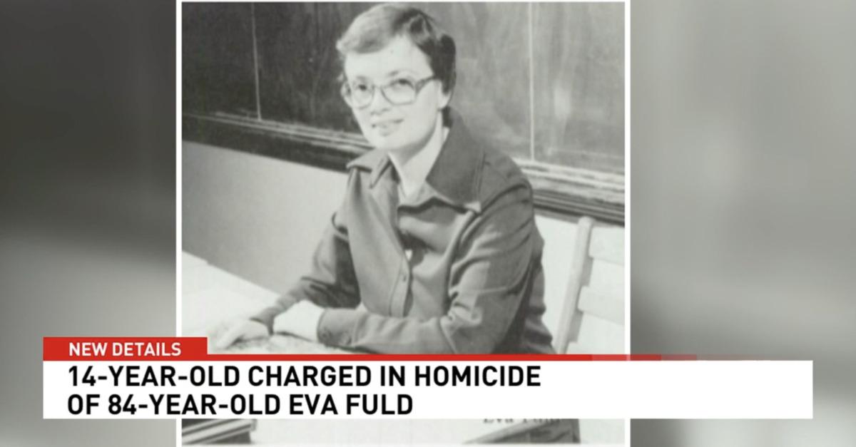Eva Fuld seen in an old photo