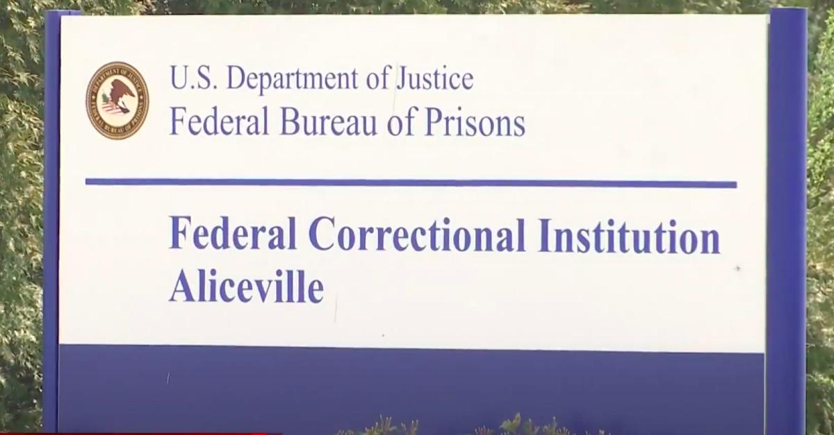 FCI-Aliceville federal prison sign
