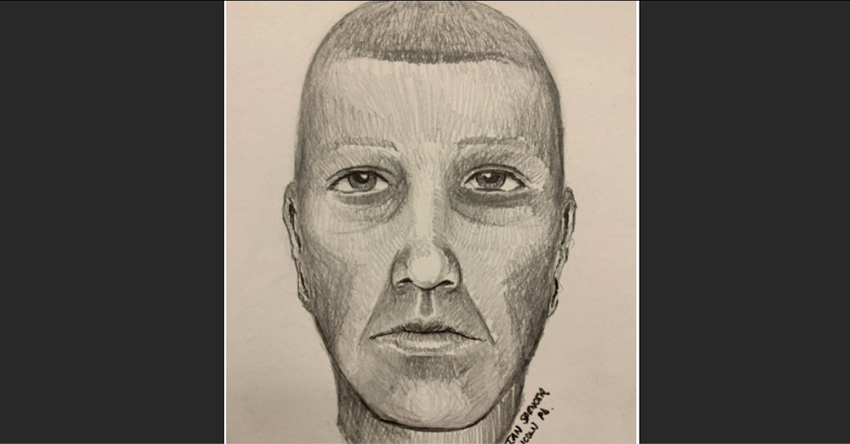 Police sketch of suspect in Merrimack home invasion and sexual assault case.
