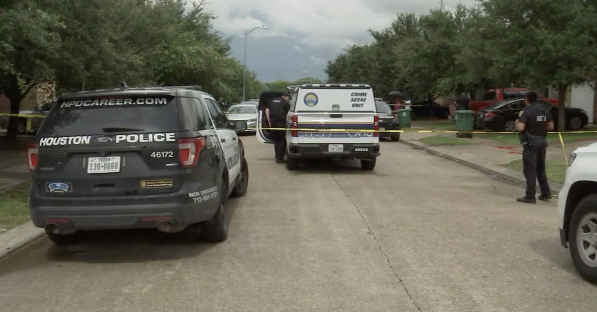 The site of a murder-suicide in southwest Houston