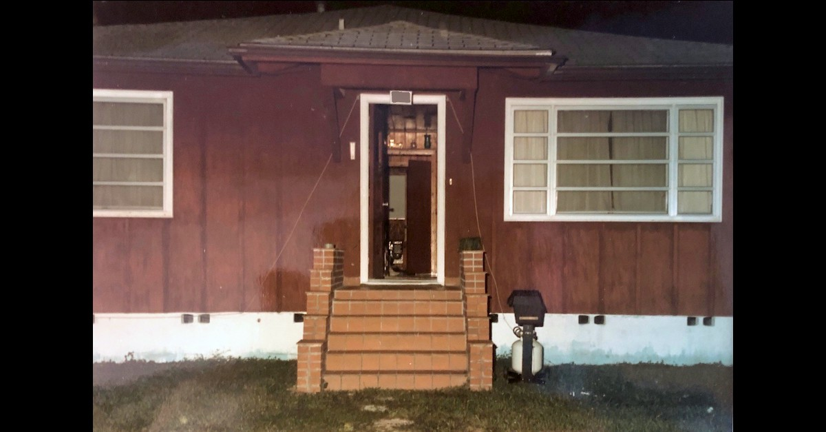 The home where Denise Marie Stafford died is shown in an evidence photo provided by the Sarasota, Fla. Police Department.