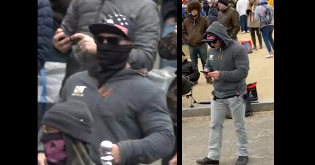 Logan James Barnhart appears in two FBI handout images.
