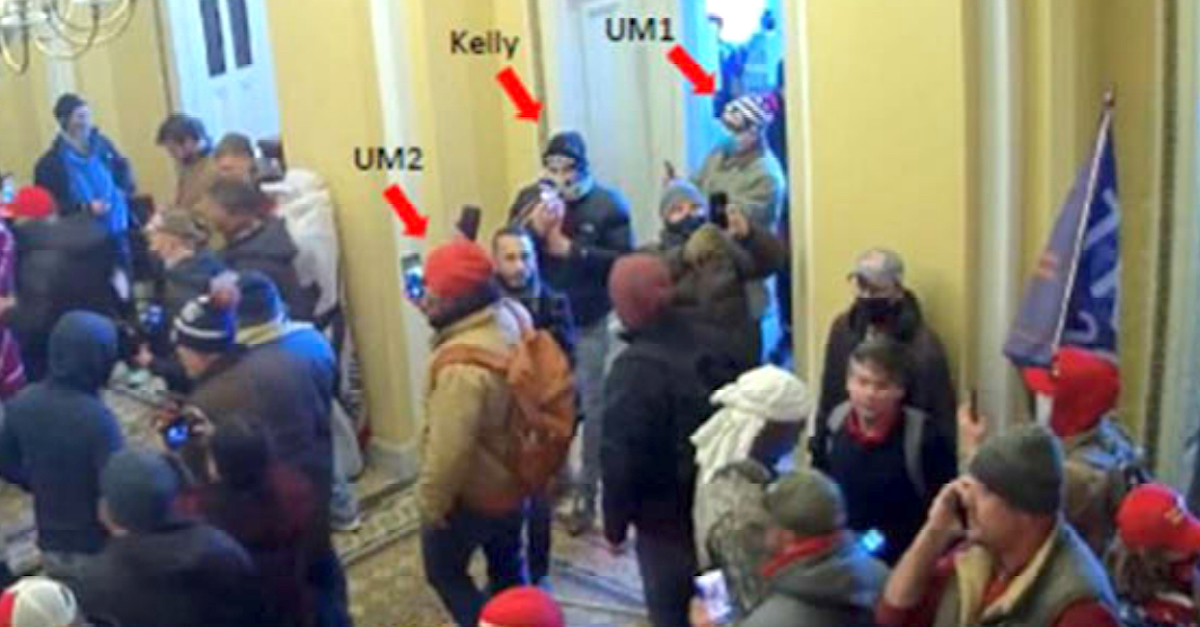 An image embedded within federal court documents shows Dr. Kenneth Kelly inside the U.S. Capitol on Jan. 6, 2021.
