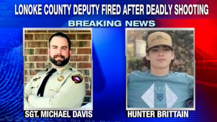 Michael Davis and Hunter Brittain appear in images obtained by KLRT-TV.