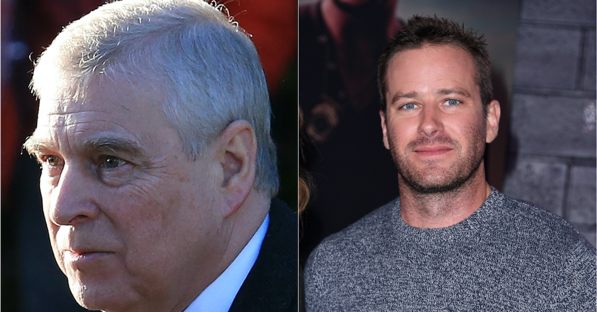 Prince Andrew and Armie Hammer