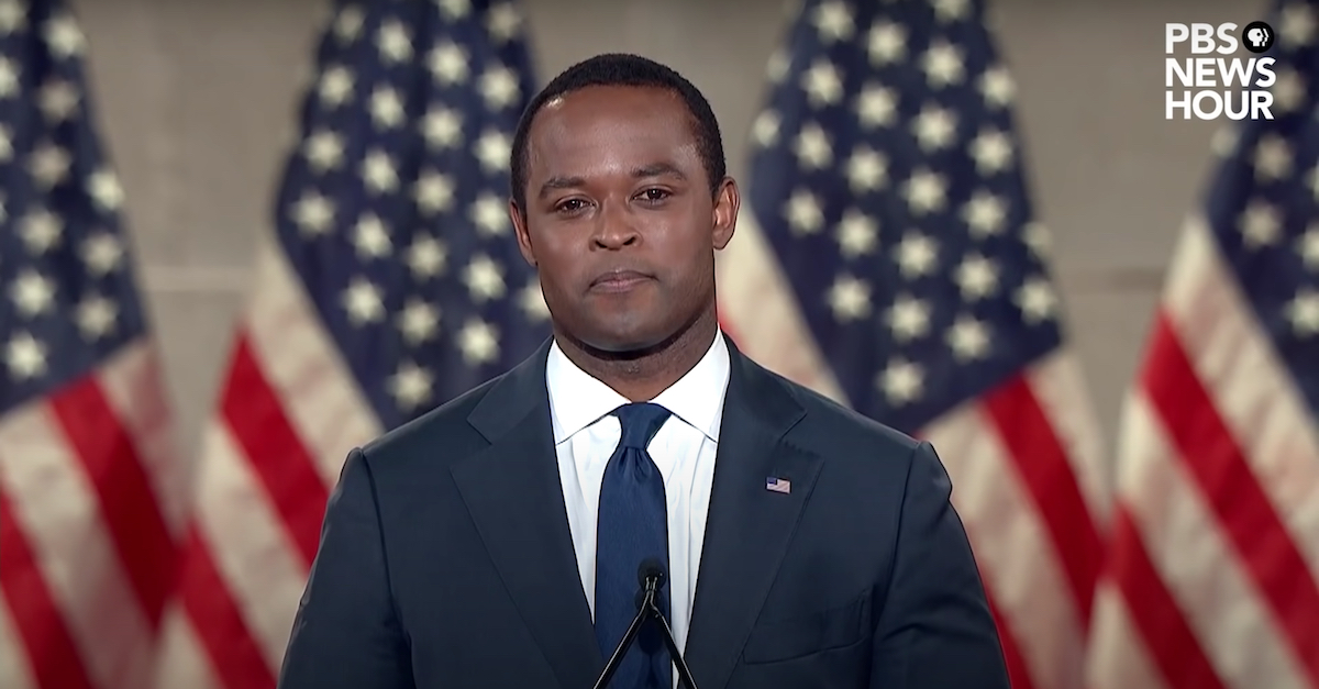 Kentucky Attorney General Daniel Cameron appears in a file photo speaking at the Republican National Convention on Aug. 25, 2020. (Image via screengrab from PBS NewsHour/YouTube.)