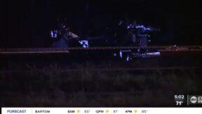 motorcycle crash scene in Florida