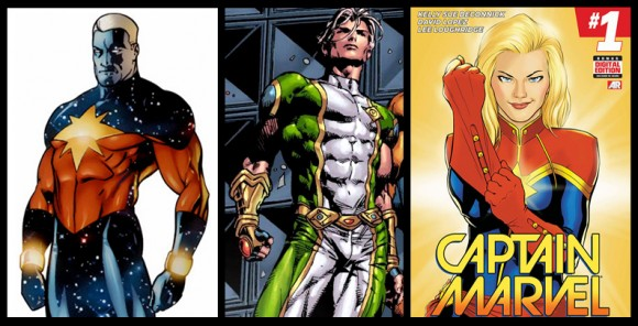 Captain Marvel Costume History The Mary Sue While carol's costume would change a few more. captain marvel costume history the