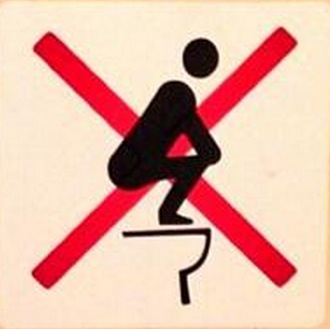No Toilet Squatting