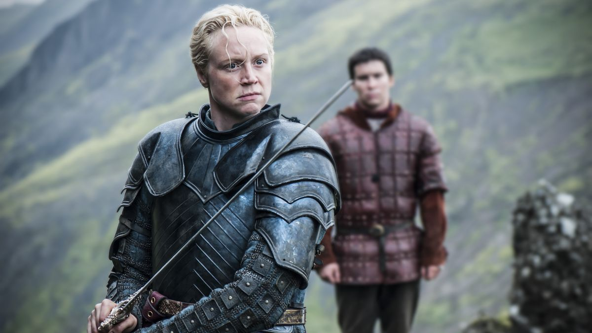 Gwendoline Christie as Brienne of Tarth in HBO's Game of Thrones.