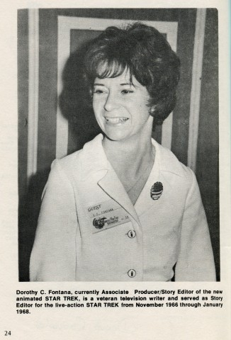 Photo of D. C. Fontana, from the 1973 program