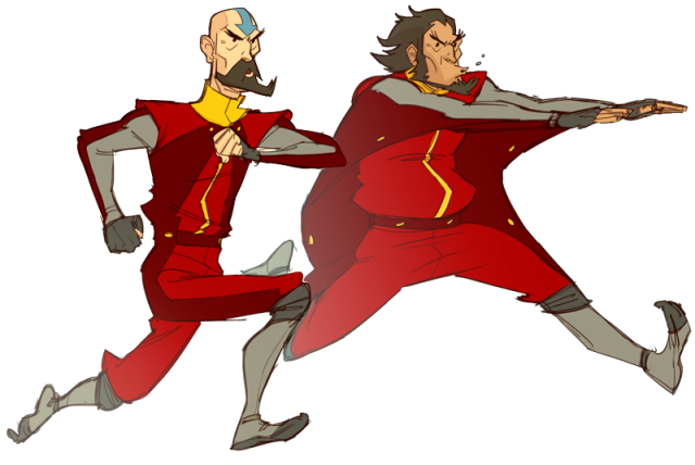 Tenzin and Bumi in their pajamas are here to save the day! Art by Makanidotdot