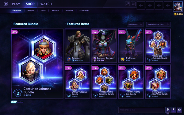 Heroes of the Storm - Shop