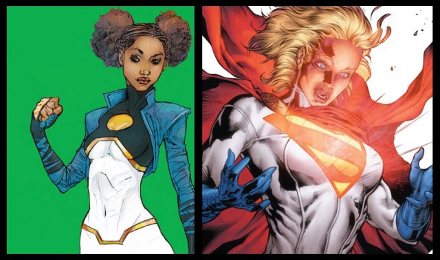Tanya Spears and Power Girl S-Shield