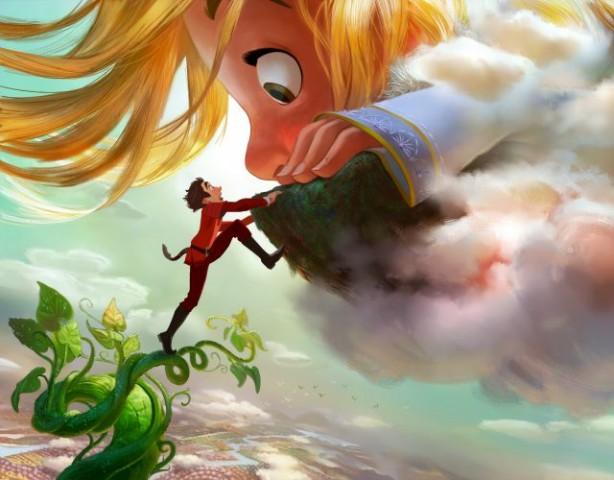 """GIGANTIC – DOWN TO EARTH — Adventure-seeker Jack discovers a world of giants hidden within the clouds, hatching a grand plan with a 60-foot-tall, 11-year-old girl. Directed by Nathan Greno (""""Tangled"""") and produced by Dorothy McKim (""""Get A Horse!""""), """"Gigantic"""" hits  U.S. theaters in 2018. ©2015 Disney. All Rights Reserved."""