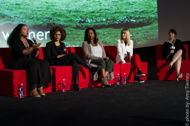 Tiffany Smith-Anoa'i, SVP of Entertainment Diversity, CBS Corporation, Brittany Turner, VP of Digital Video, Adaptive Studios, Wendy Calhoun, Producer, Catherine Hardwicke, Director, and Stacey Wilson Hunt, Hollywood Editor, Vulture