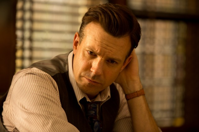 Jason Sudeikis as Larry Snyder in a scene from RACE.