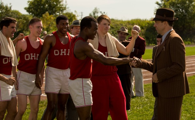 James and Sudeikis in a scene from RACE.