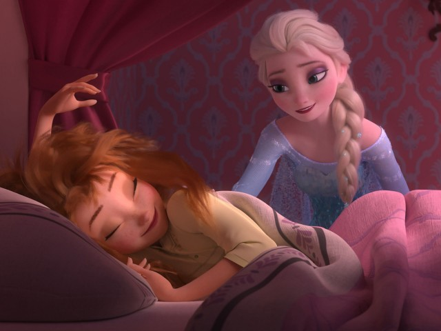 """""""Wake up! It's time for more Frozen!"""""""
