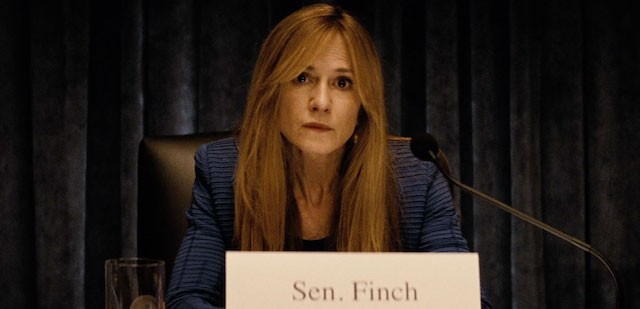 Holly Hunter as Senator Finch in Batman v Superman