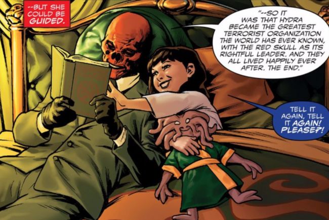 Red Skull reads to Kobik