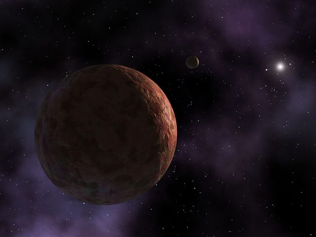 Artist's rendering of dwarf planet Sedna, which is said to be similar to UZ224.