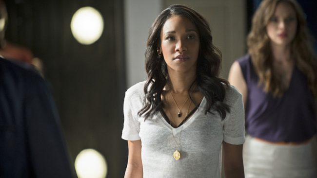 """The Flash -- """"The Man Who Saved Central City"""" -- Image FLA201b_0443b.jpg -- Pictured (L-R): Candice Patton as Iris West and Danielle Panabaker as Caitlin Snow -- Photo: Cate Cameron /The CW -- © 2015 The CW Network, LLC. All rights reserved."""
