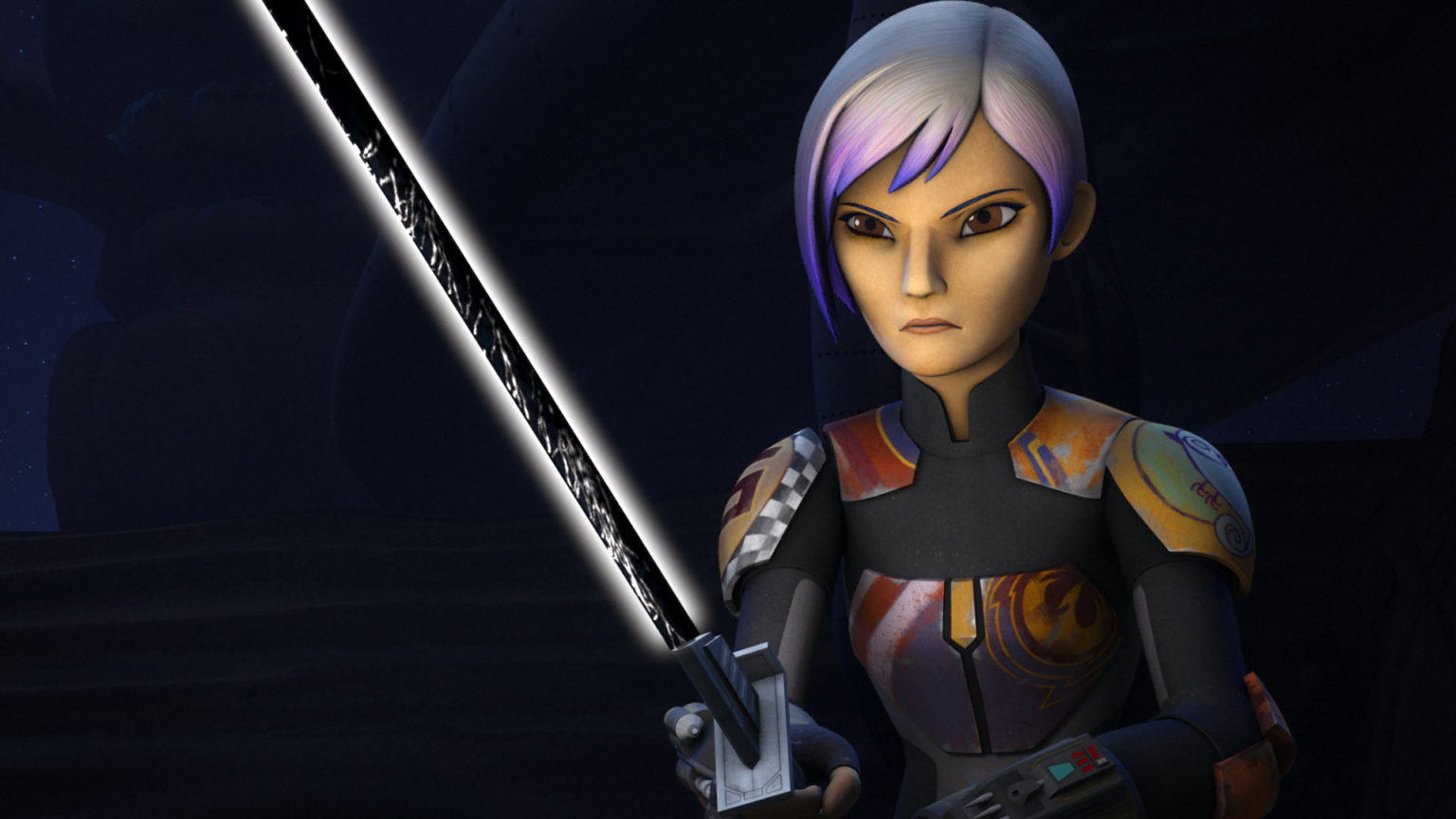 Sabine Holds the Darksaber in Star Wars Rebels