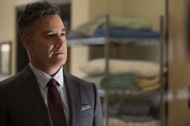 """image: Jeff Weddell/The CW Supergirl -- """"Damage"""" -Pictured: Adrian Pasdar as Morgan Edge -- © 2017 The CW Network, LLC. All Rights Reserved"""
