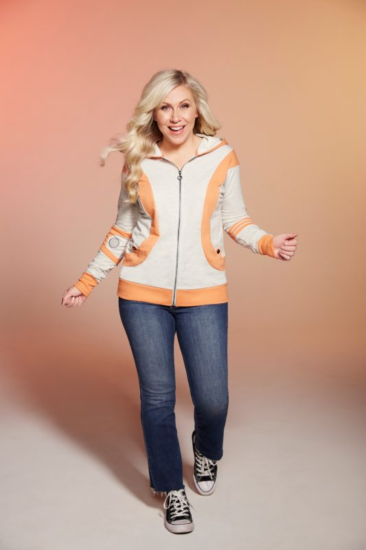 image: Her Universe Ashley Eckstein in BB-8 hooded sweatshirt