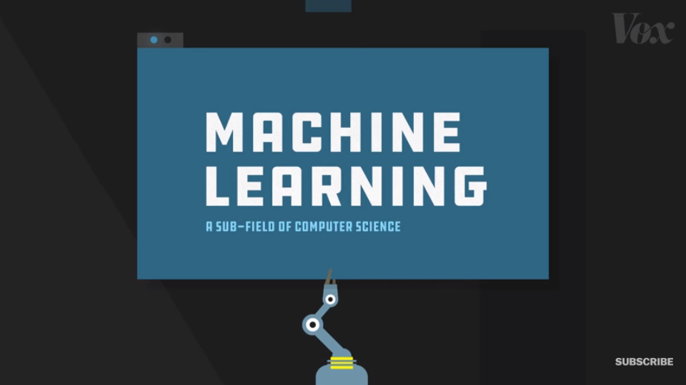 Screengrab of Vox's YouTube video about machine learning and artificial intelligence